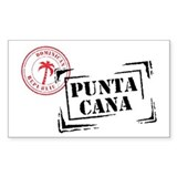 Punta Cana Passport Stamp Rectangle Decal