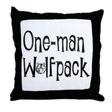 Cute Wolfpack hangover Throw Pillow