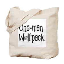 Unique One man wolfpack Tote Bag