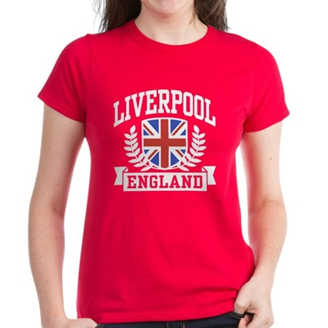 Liverpool England Women's Dark T-Shirt