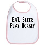 Eat, Sleep, Play Hockey Bib