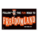 Freedomland Bumper Decal