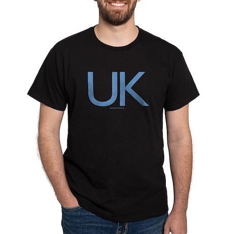 UK (Blue) - Black T-Shirt