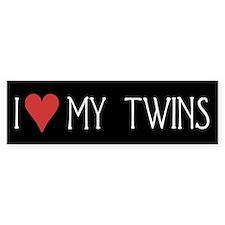 I Heart My Twins Bumper Bumper Sticker