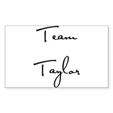 Team Taylor Rectangle Decal