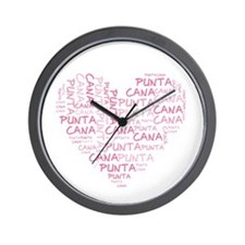 Word Up Heart Punta Cana Wall Clock