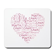 Word Up Heart Punta Cana Mousepad