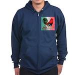 El Gallo Grande Zip Hoodie (dark)
