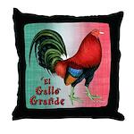 El Gallo Grande Throw Pillow