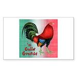 El Gallo Grande Rectangle Sticker 50 pk)