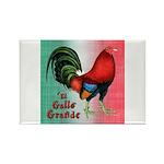 El Gallo Grande Rectangle Magnet (10 pack)