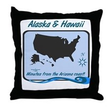 Alaska and Hawaii Funny Throw Pillow