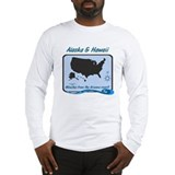 Alaska and Hawaii Funny Long Sleeve T-Shirt
