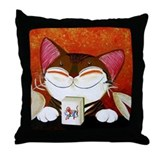 CAT ART ~ The Winning Tile Throw Pillow