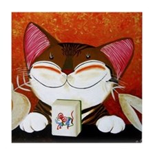 CAT ART ~ The Winning Tile Tile Coaster