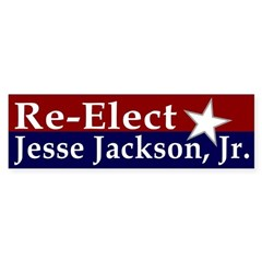 Re-Elect Jesse Jackson Jr. Bumper Sticker