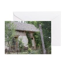 Scenic Picture of a Decaying Home Greeting Card