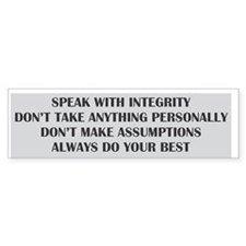 4 Agreements Bumper Bumper Sticker