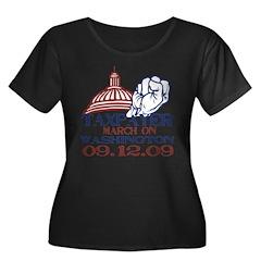 Tax March Women's Plus Size Scoop Neck Dark T-Shir
