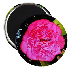 """I Love You Chinese Rose 2.25"""" Magnet (10 pack)"""