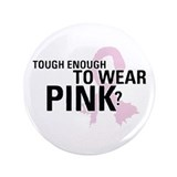 "Cute Breast cancer cause 3.5"" Button (100 pack)"