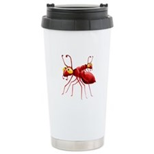 Two Red Ants Ceramic Travel Mug