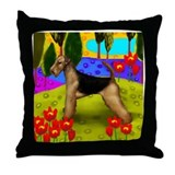 Airdale terrier Dog Throw Pillow