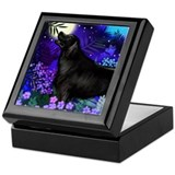 Flat-Coated Retriever Dog Keepsake Box