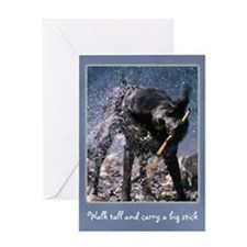 Big Stick Dog Greeting Card
