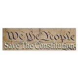 Save The Constitution ~ Bumper Sticker
