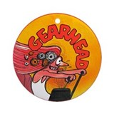 Gearhead Ornament (Round)