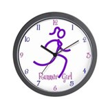 RunnerGirl Wall Clock