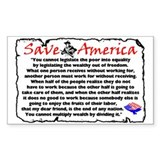 """Save America"" Rectangle Decal"