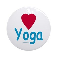 Heart Yoga - Holiday Ornament Round