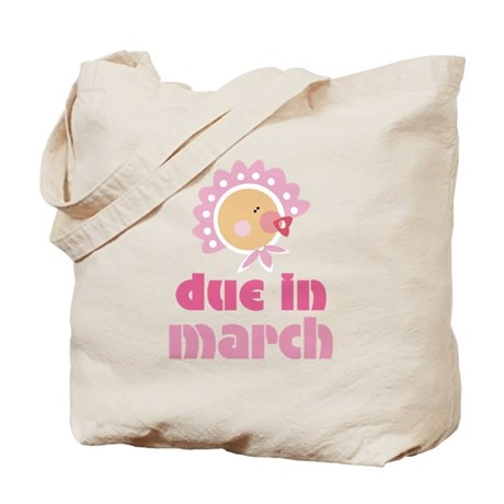 Pink Baby March Due Date Tote Bag