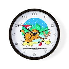 Odie Reindeer Wall Clock