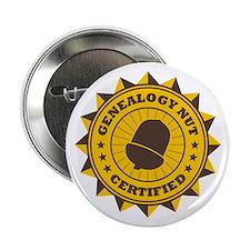 """Certified Genealogy Nut 2.25"""" Button"""
