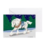 Christmas Draft Horse Greeting Card