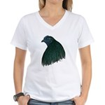 Sumatra Rooster Head Women's V-Neck T-Shirt