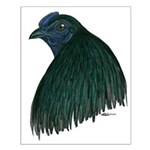 Sumatra Rooster Head Small Poster