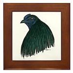 Sumatra Rooster Head Framed Tile