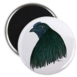 """Sumatra Rooster Head 2.25"""" Magnet (10 pack)"""