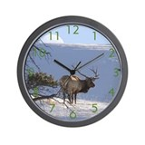 Sunset Elk Wall Clock
