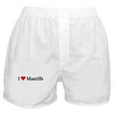 I Love Mastiffs Boxer Shorts