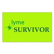 Lyme Survivor Rectangle Decal
