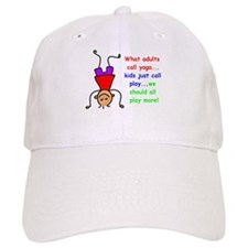 Funny Yoga kids Baseball Cap