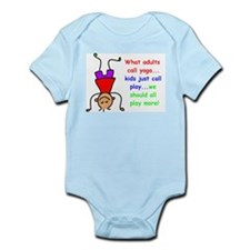 Funny Yoga kids Infant Bodysuit