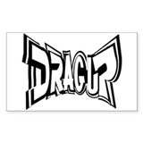 DRAG UP Rectangle Sticker