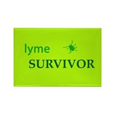 Lyme Survivor Rectangle Magnet