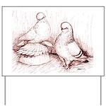 Tumbler Pigeons Yard Sign